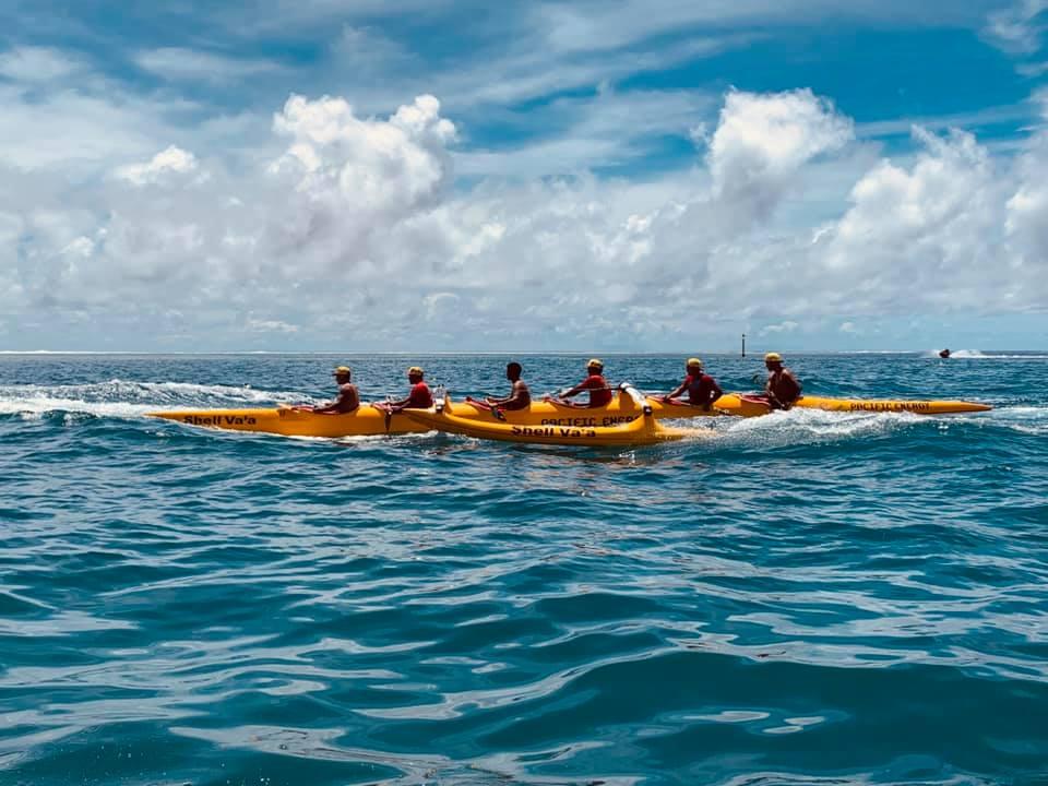 Shell Va'a a remporté les sélectives V6 ce week-end et représentera la Polynésie aux Jeux du Pacifique ©  Mihirani Dubois