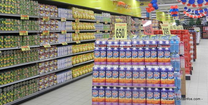 47 % des dépenses alimentaires réalisées dans les grandes surfaces