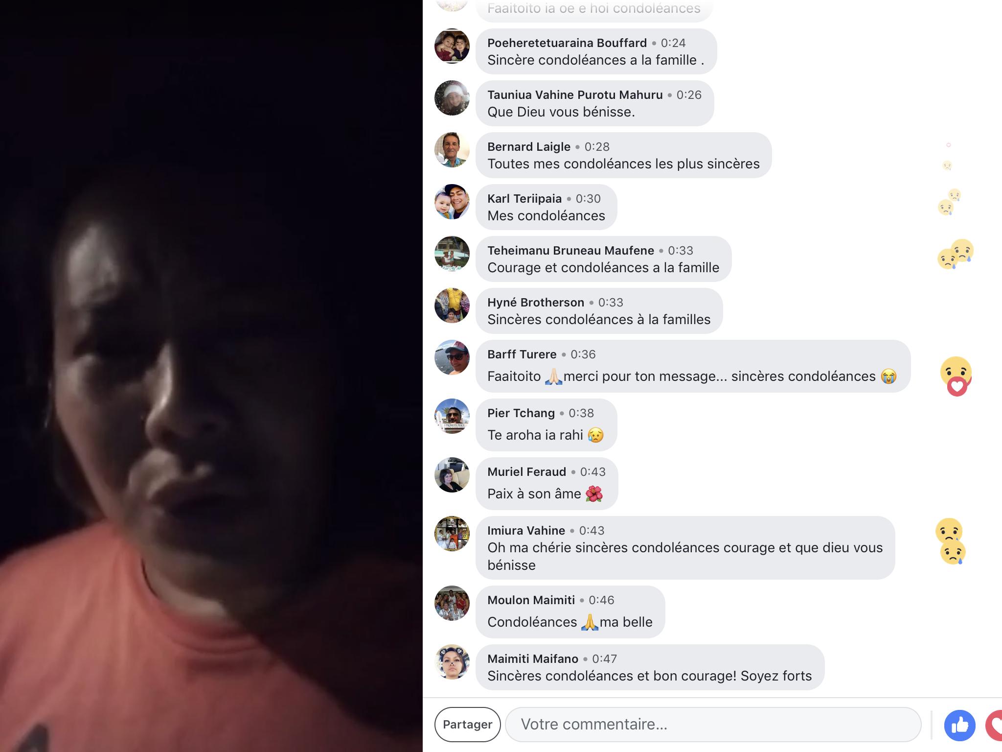 Accident mortel à Bora Bora, la fille de la victime témoigne sa douleur en direct