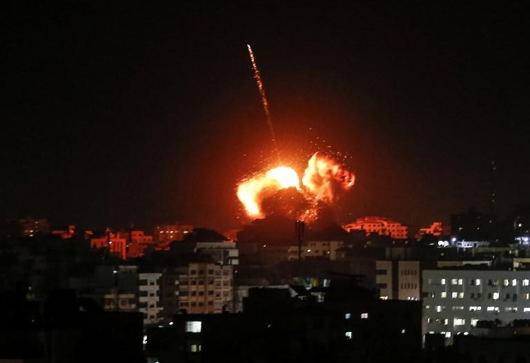 Israël déclenche des frappes multiples à Gaza en riposte à un tir de roquette