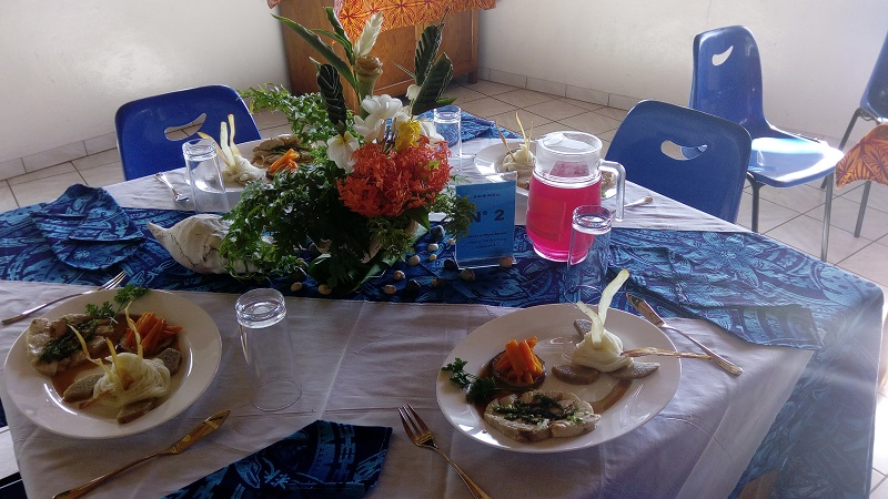 Avec cette assiette, Leonard a remporté le premier prix.