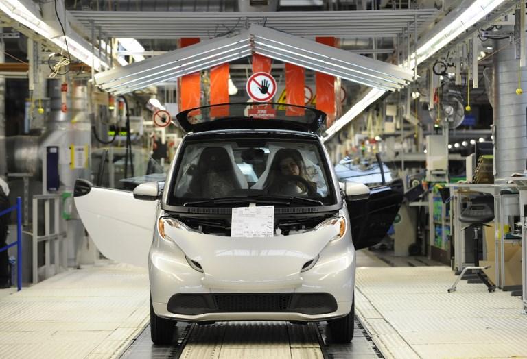 """Daimler: les Smart quitteront la France pour la Chine """"dès 2022"""""""