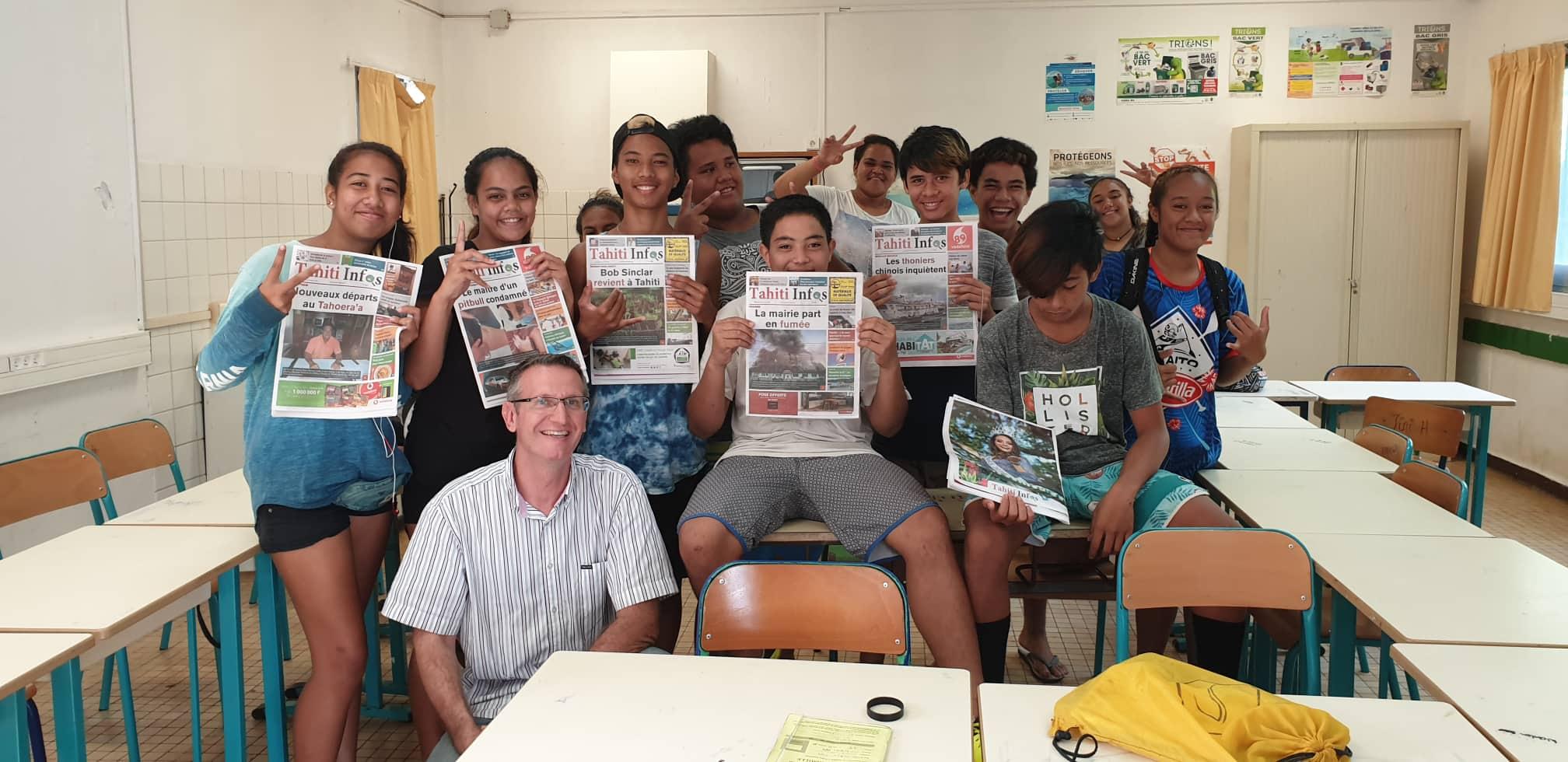 Les élèves du collège Henri Hiro met en avant votre journal gratuit