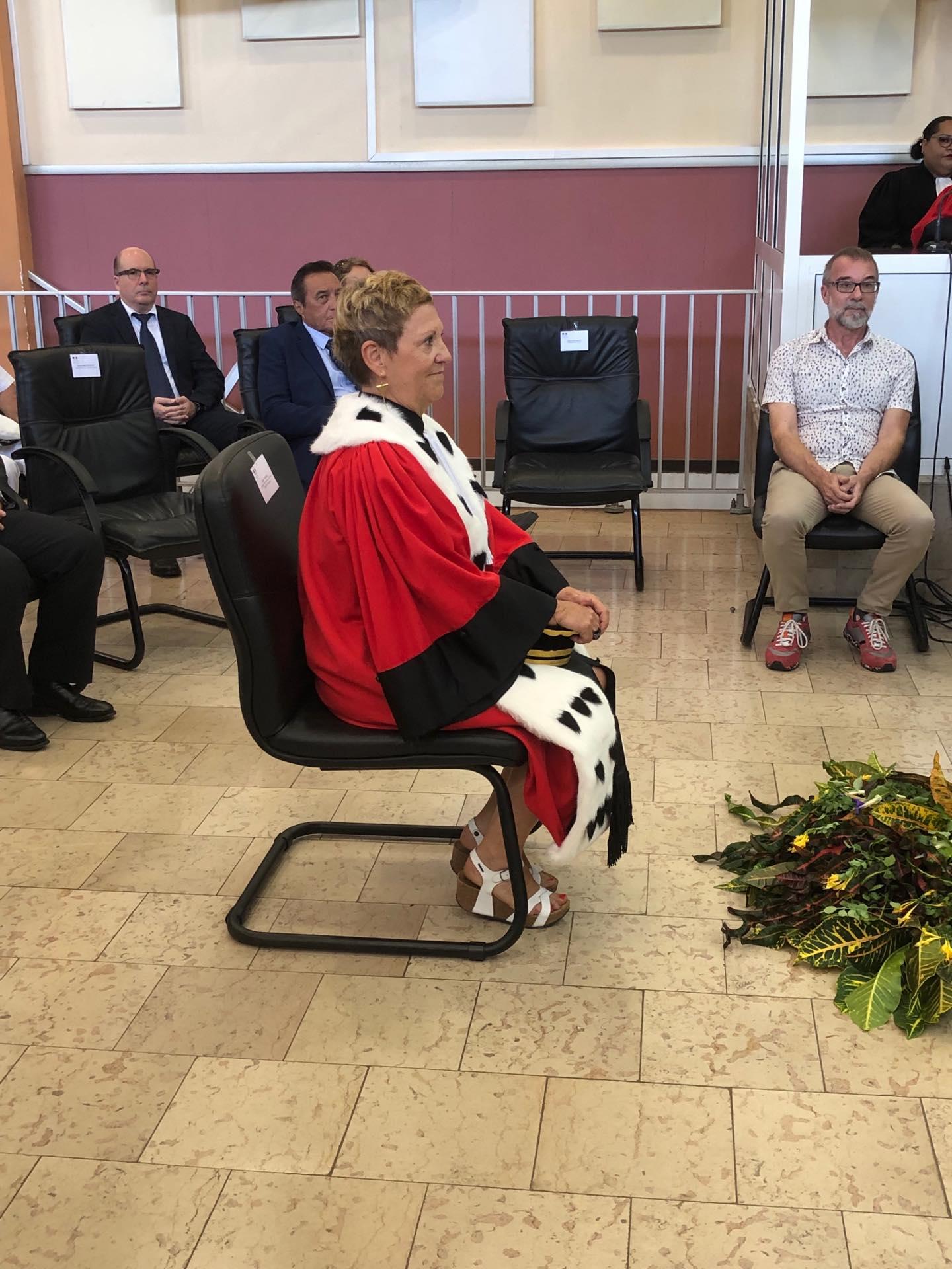 Liliane Valko, nouvelle présidente de chambre à la cour d'appel de Papeete