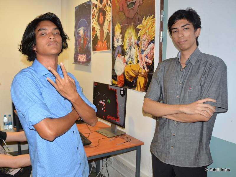 Kenny Bissol et Michael Meyer, membres de l'équipe qui a créé le jeu Bullet Hack