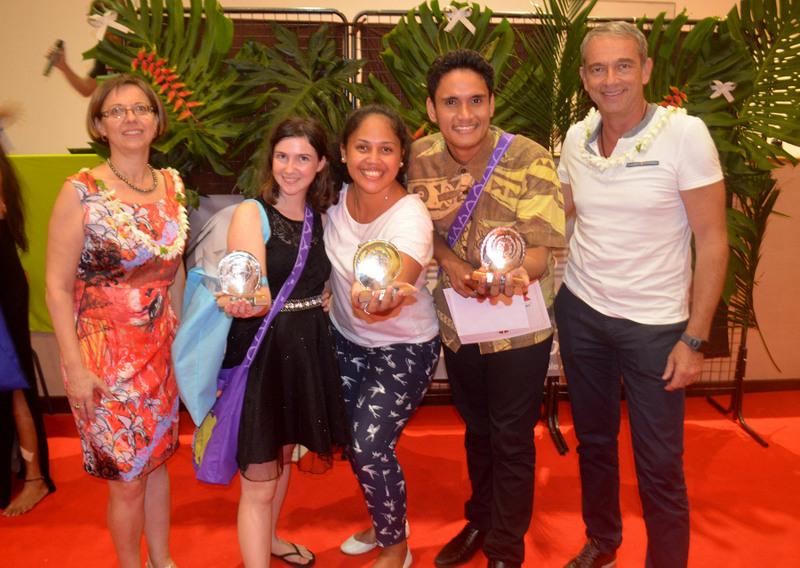 """Les trois lauréats du premier concours d'éloquence de l'Université partiront en Nouvelle Calédonie participer aux """"Rencontres d'Éloquence du Pacifique""""."""
