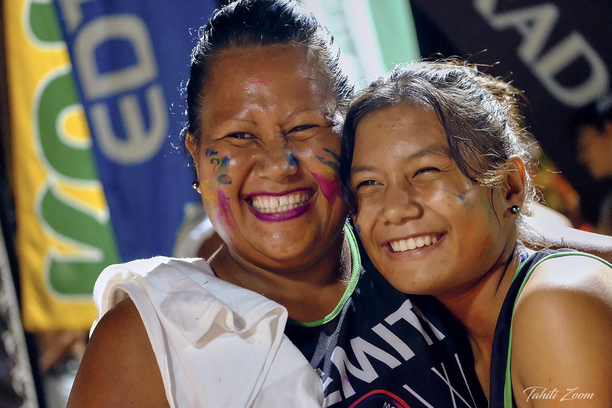 """Le Marathon est une belle """"fête de la course"""" © Tahiti Zoom/Moorea Events"""