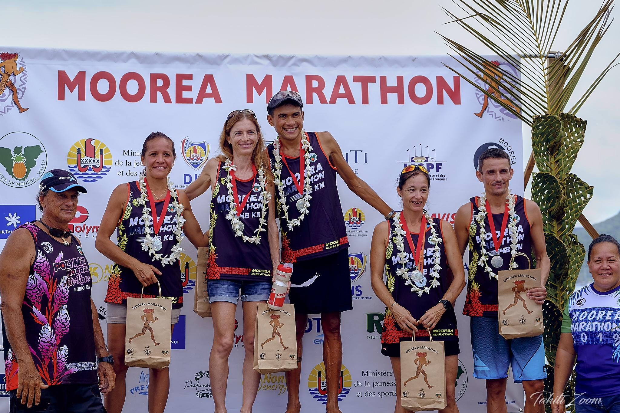 Le podium de la course reine © Tahiti Zoom/Moorea Events