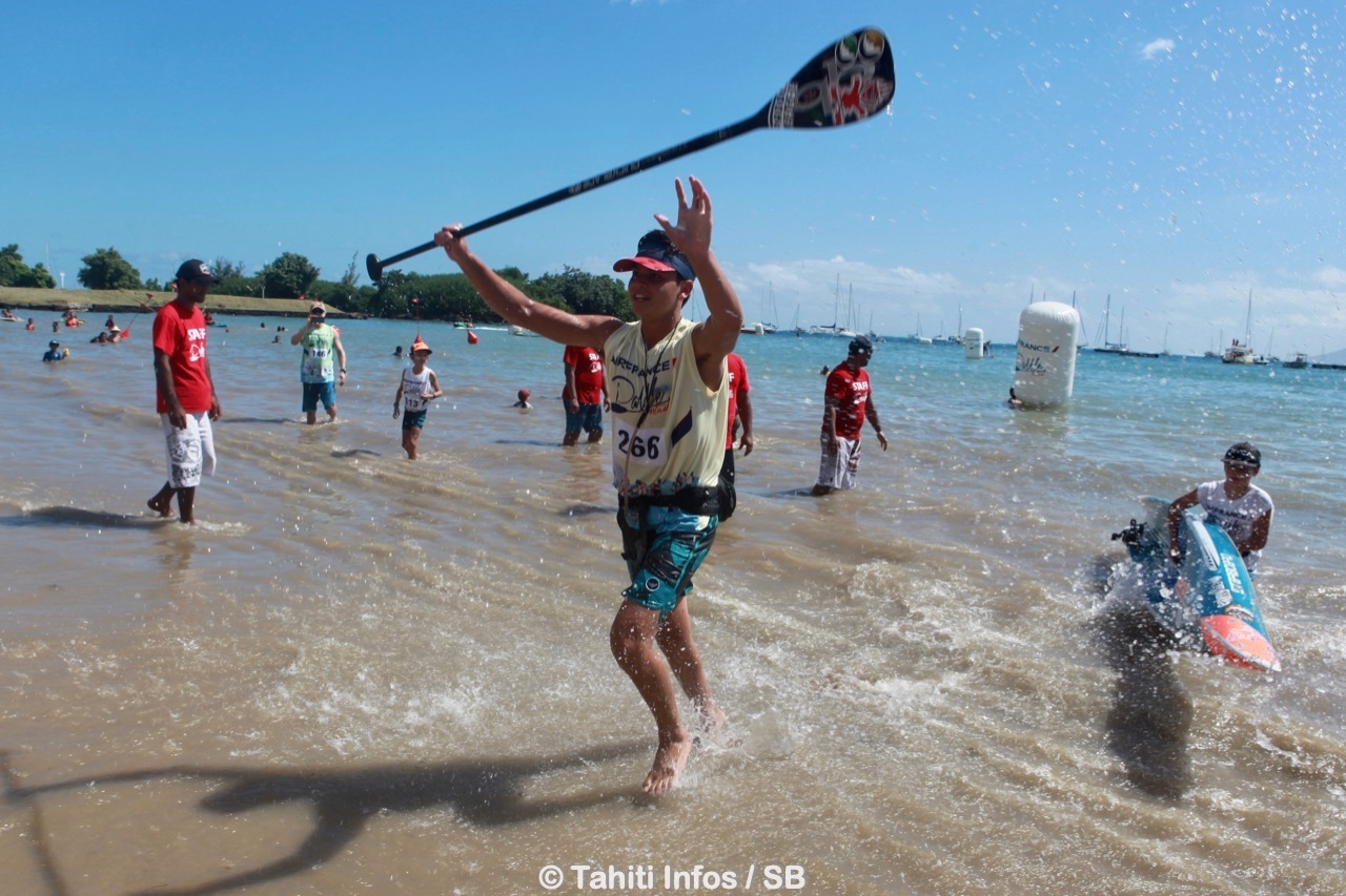 Sup Race – Air France Paddle Festival : Belle deuxième place pour Keoni Sulpice