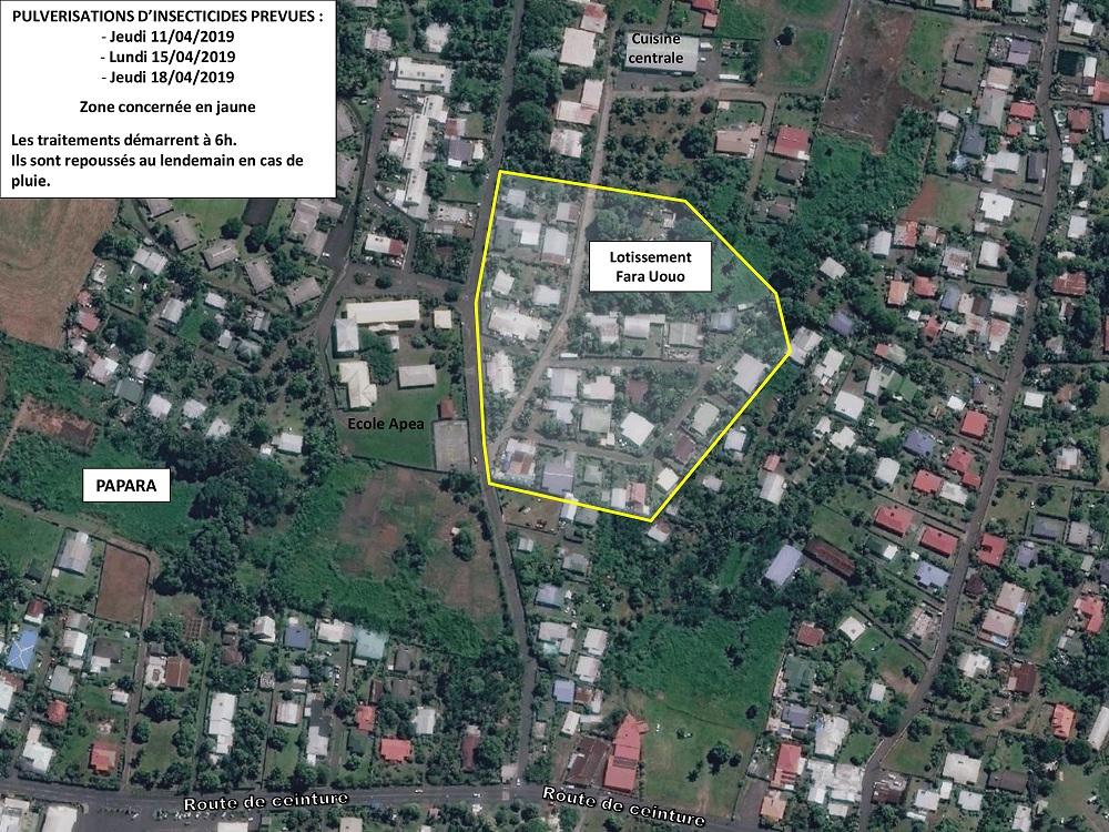 Dengue de type 2 : des foyers suspects à Mahina, Faa'a et Papara
