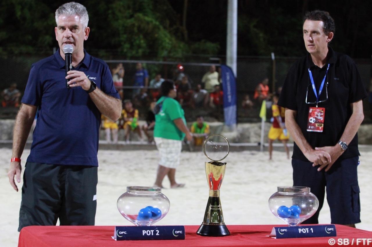 Le tirage au sort a été effectué par Chris Kemp, directeur des compétitions de l'OFC