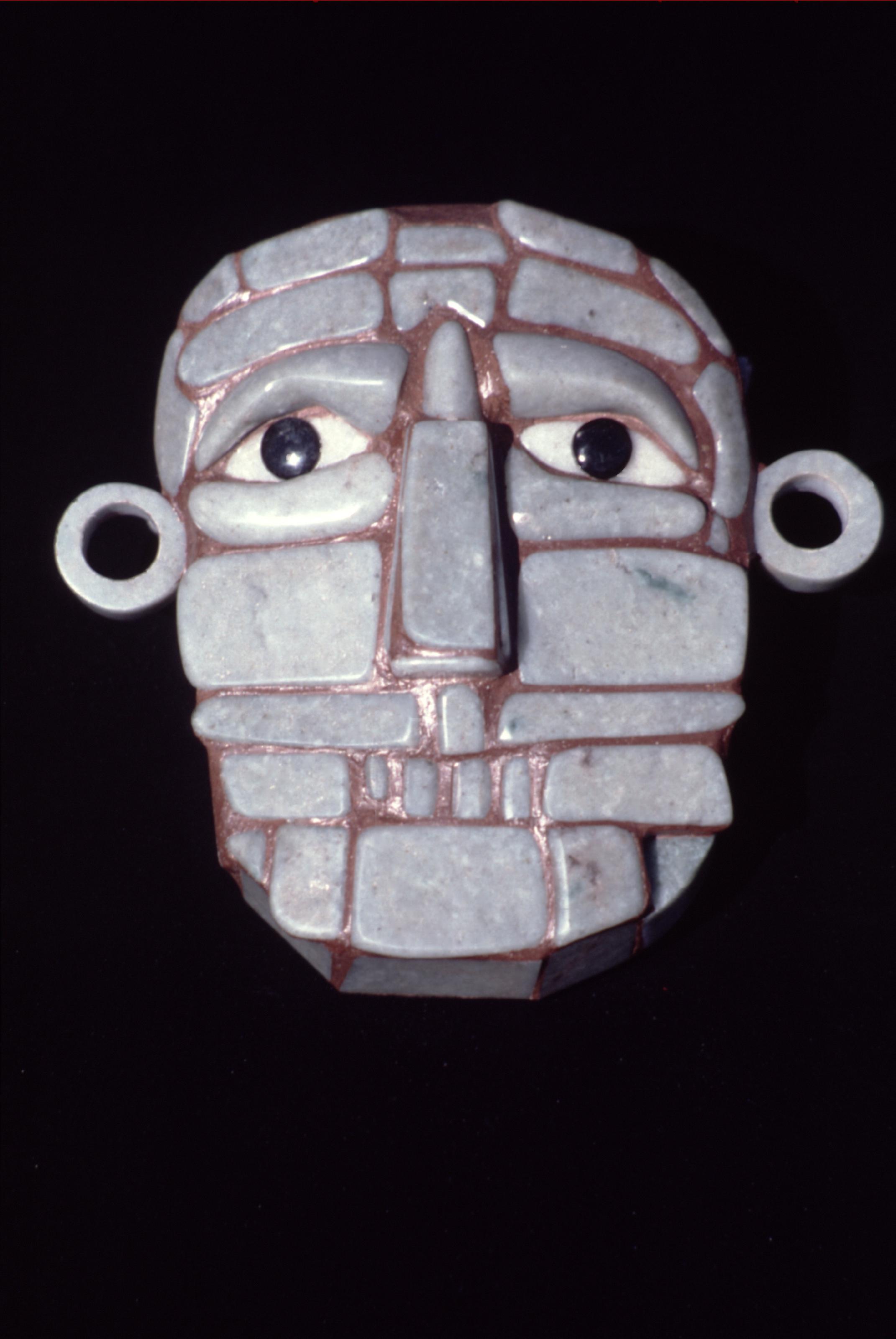 Masque mortuaire trouvé dans le Chiapas (Mexique).