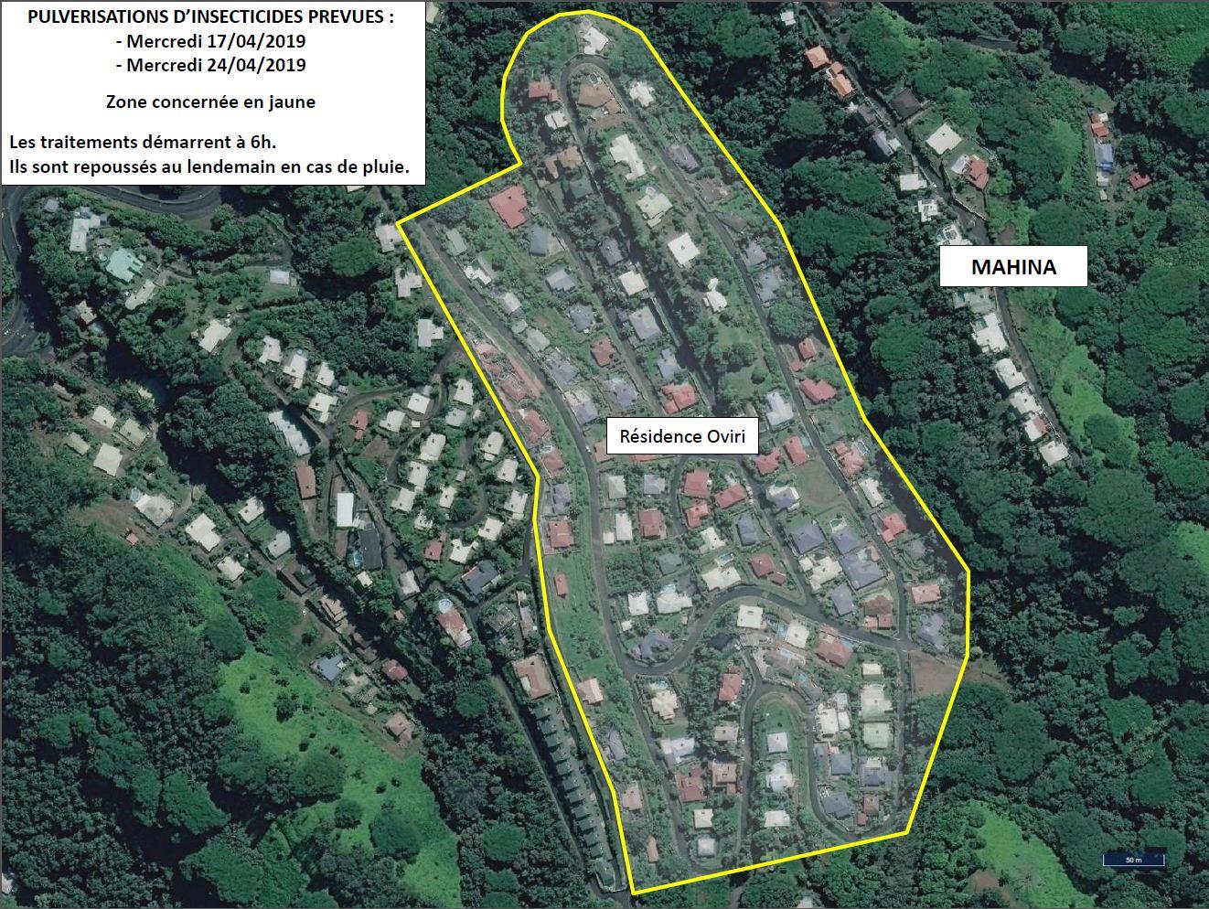 Dengue de type 2 : une pulvérisation d'insecticide est prévue ce mercredi à Oviri - Mahina