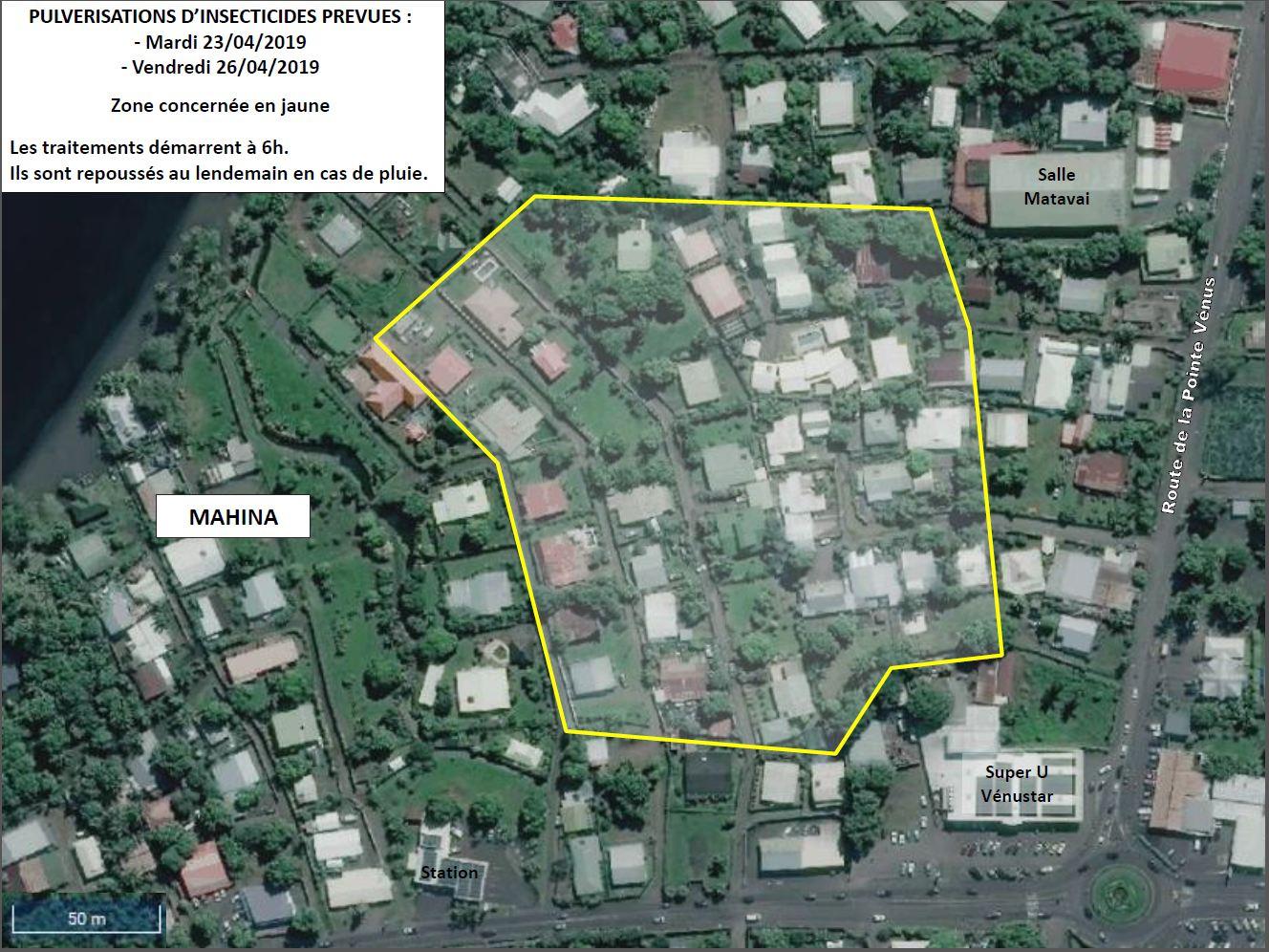 Trois nouveaux quartiers de Mahina touchés par la dengue de type 2