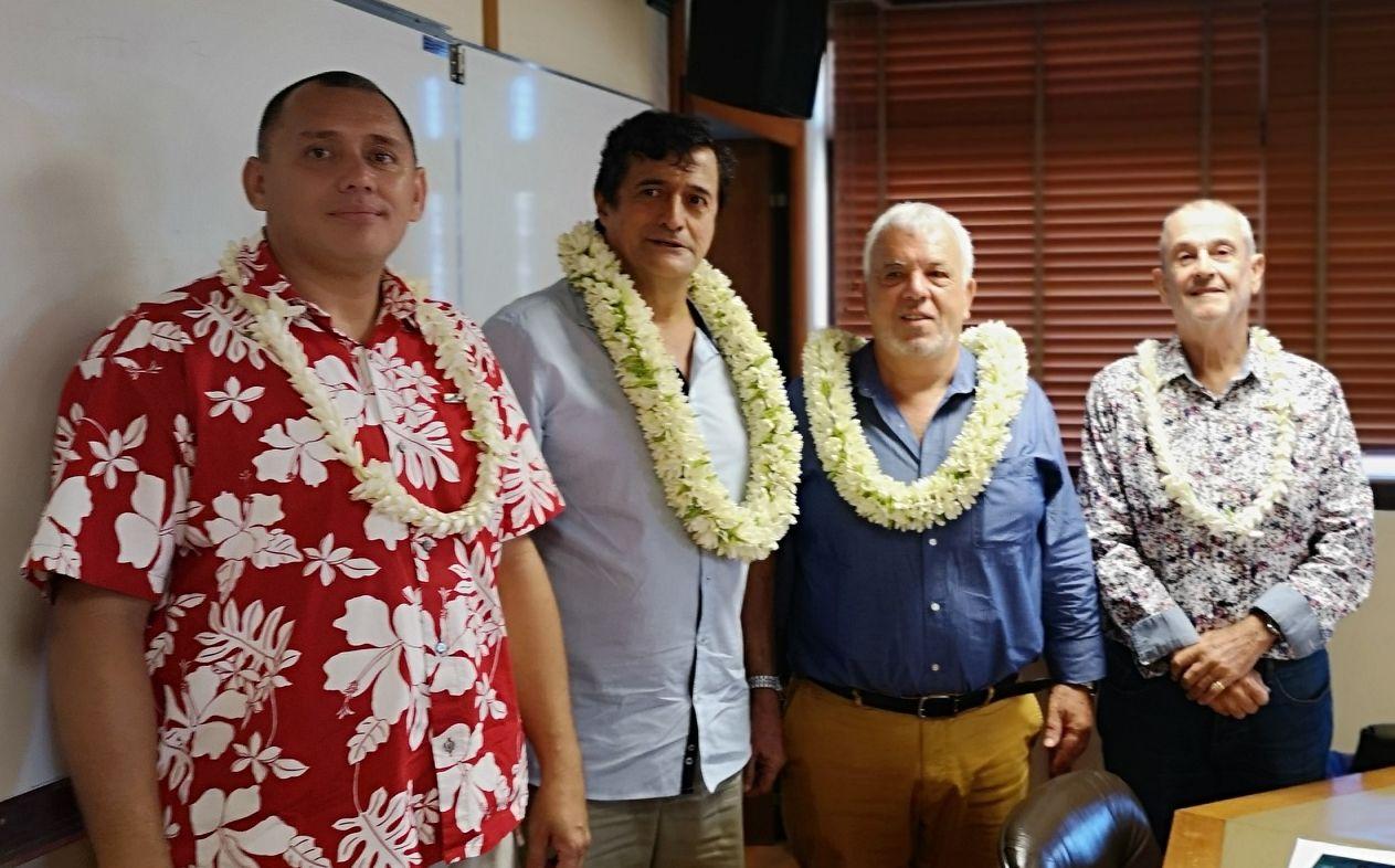 Le nouveau bureau du CA de la CPS (de gauche à droite) : Teva Philippe, Patrick Galenon, Patrick Bagur, Ronald Blaise.