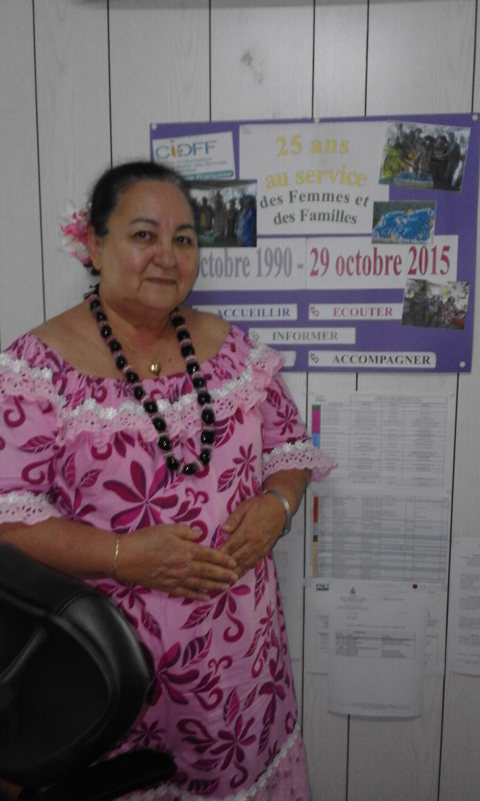 Thilda Harehoe-Garbutt est présidente du Centre d'Information des Droits des Femmes et des Familles (CIDFF).