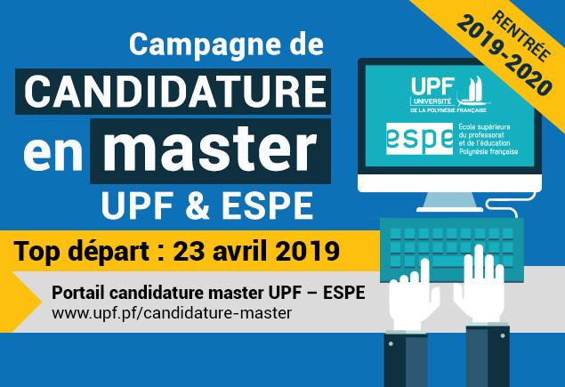 Master : vous pouvez déposer vos candidatures à l'UPF et à l'ESPE