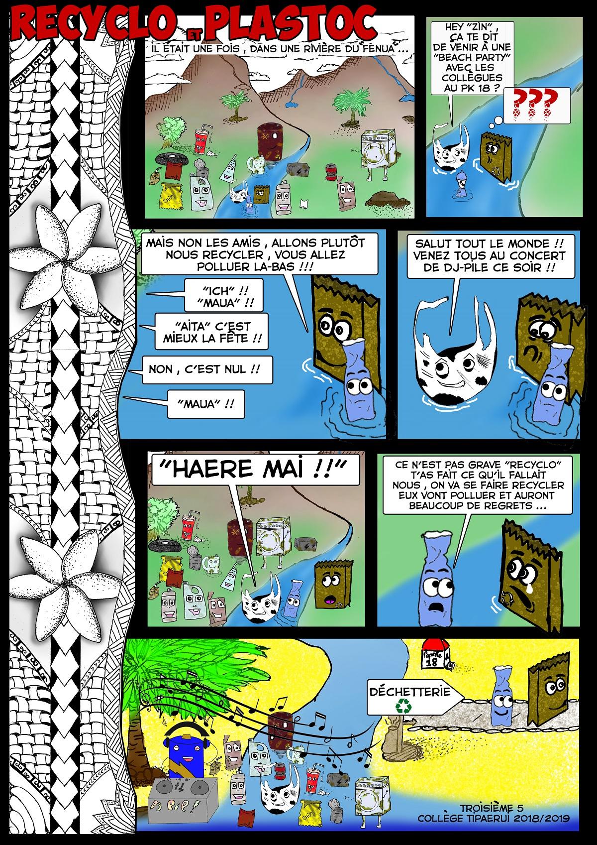 Une classe de troisième crée une bande dessinée écolo