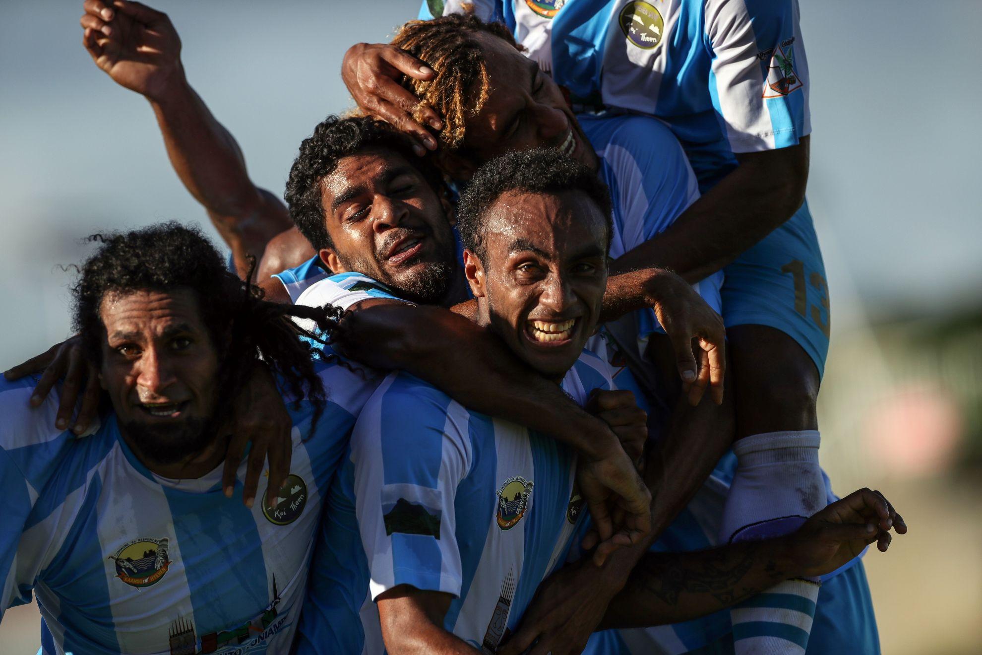 Victoire de Hienghène Sport 2-0 face à Wellington © Shane Wenzlick / www.phototek.nz