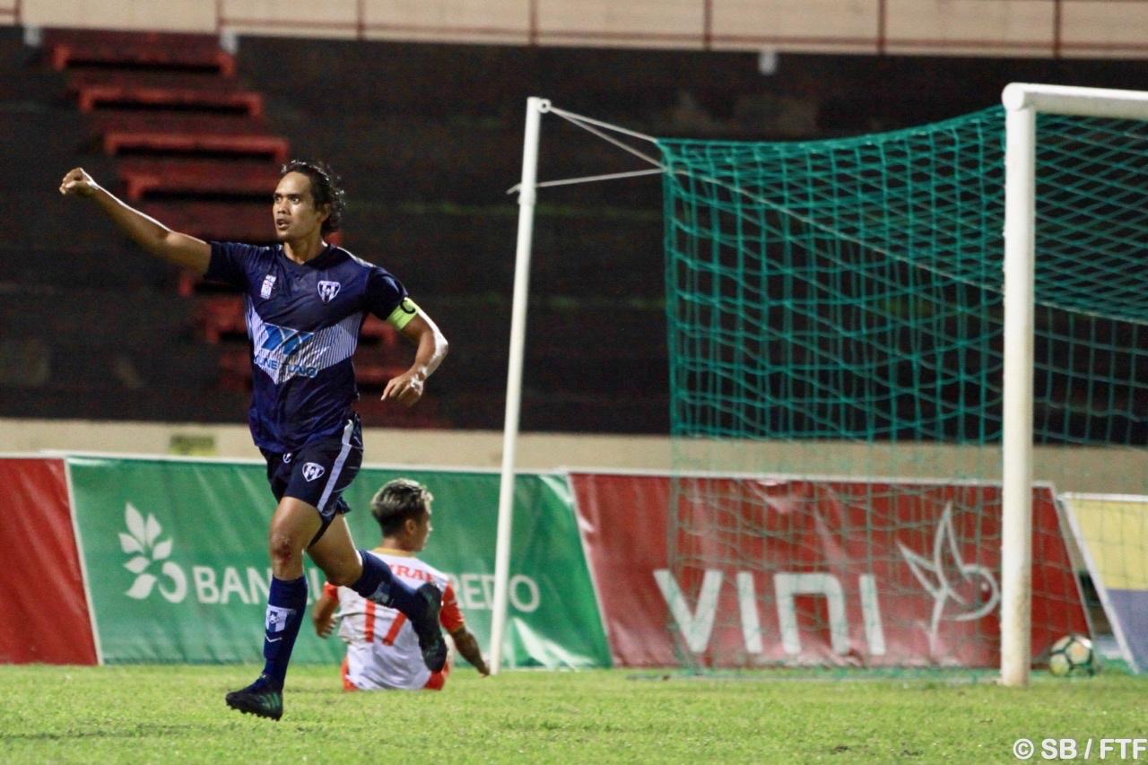 Teaonui Tehau a encore ravi son public avec le premier but