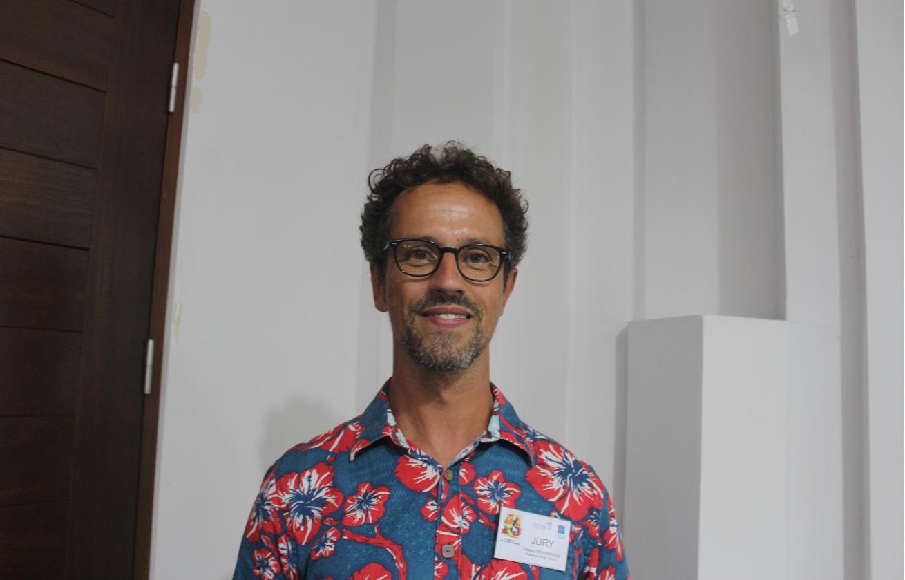 Grégory Richardson, professeur au lycée du Taaone