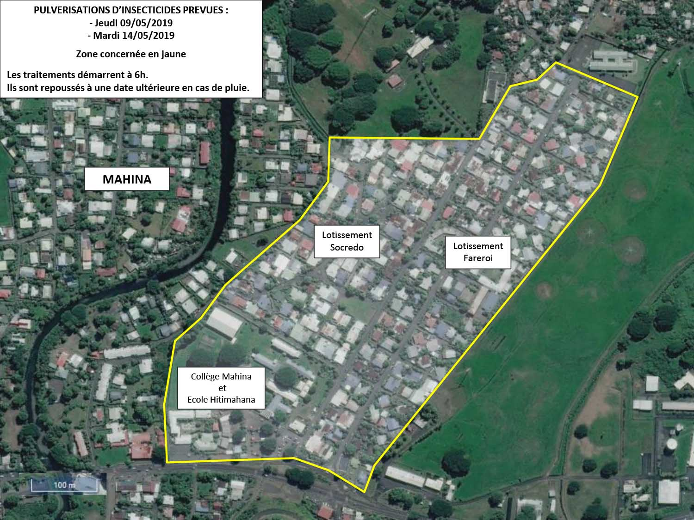 Dengue : nouvelles pulvérisations à Mahina jeudi