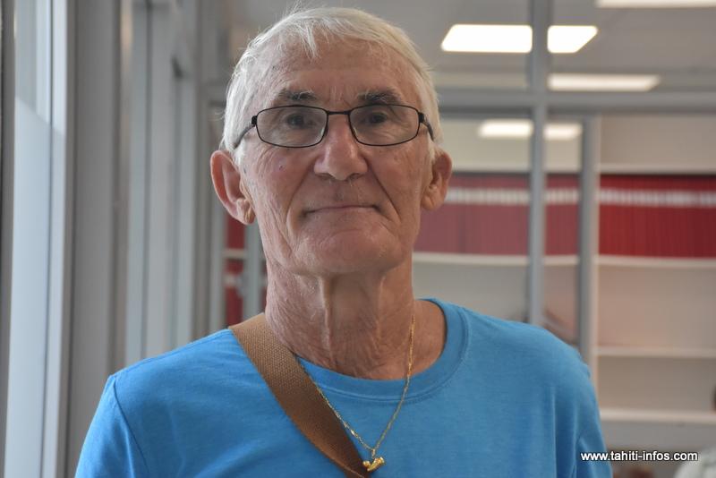 Roland Clavreul, le secrétaire général-adjoint du Syndicat général autonome des retraités de Polynésie (SGARP).