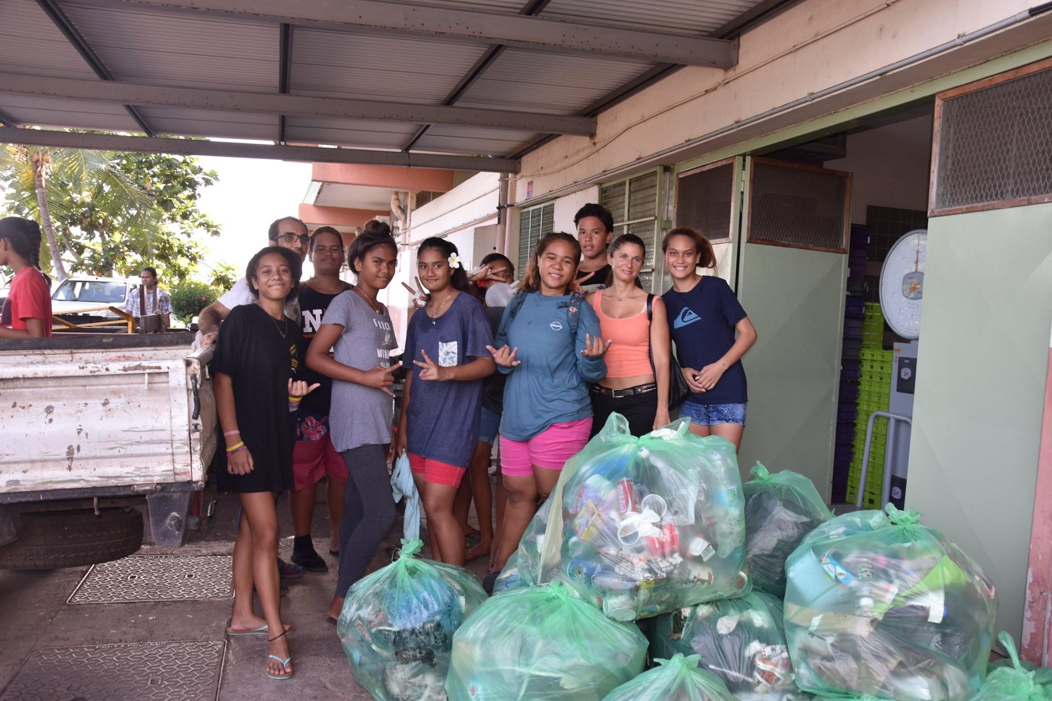 334 kg de déchets récoltés au collège et au lycée de Faa'a