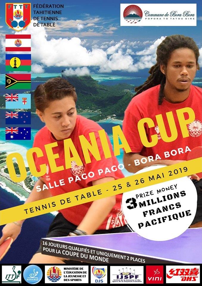 Les meilleurs pongistes océaniens se donnent rendez-vous à Bora Bora