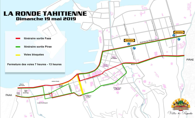 Ronde Tahitienne : Des perturbations à prévoir sur la route