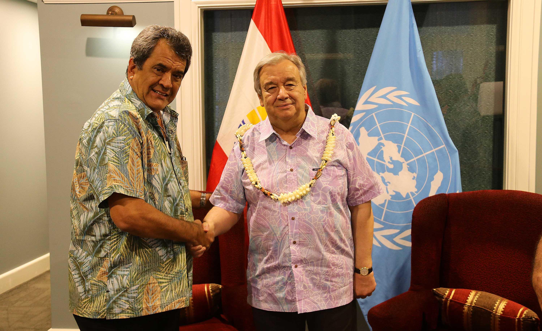 """Le secrétaire général de l'ONU salue """"le développement économique maîtrisé"""" du fenua"""