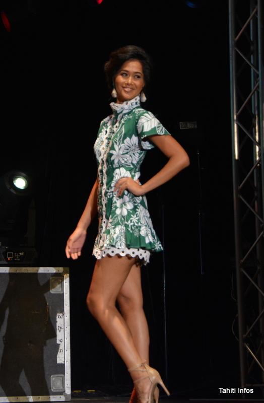 Lehani Fanaurai était dans une tenue rétro rappelant les années 60, quand la Socredo a été créée.