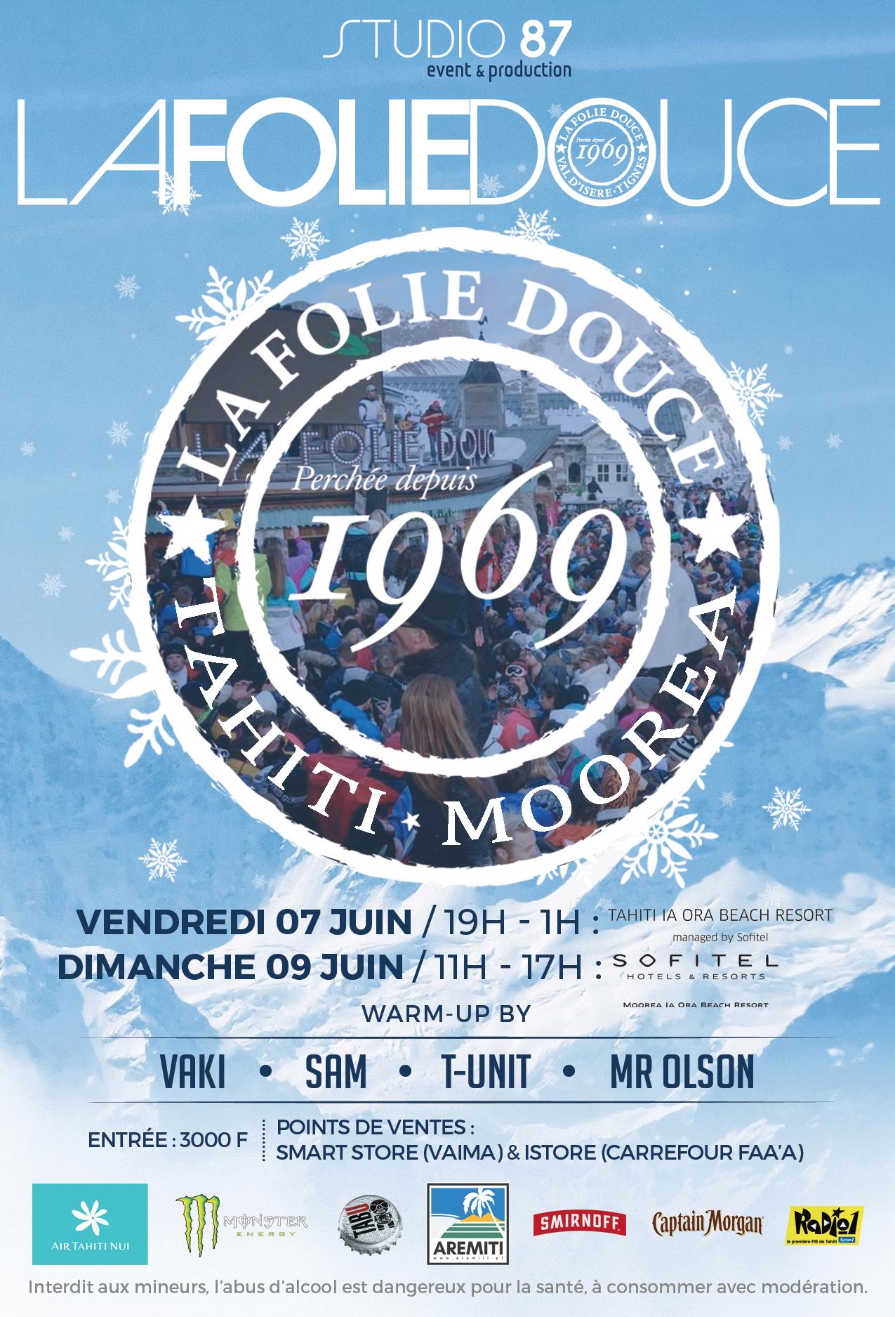 """""""La Folie douce"""" revient à Tahiti et Moorea"""