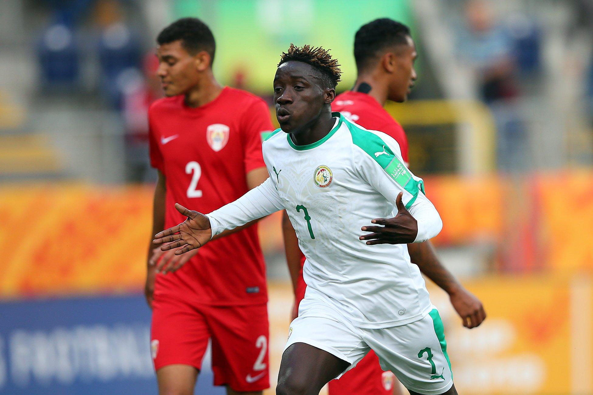 Amadou Sagna a marqué les trois buts du Sénégal © FIFA via Getty Images