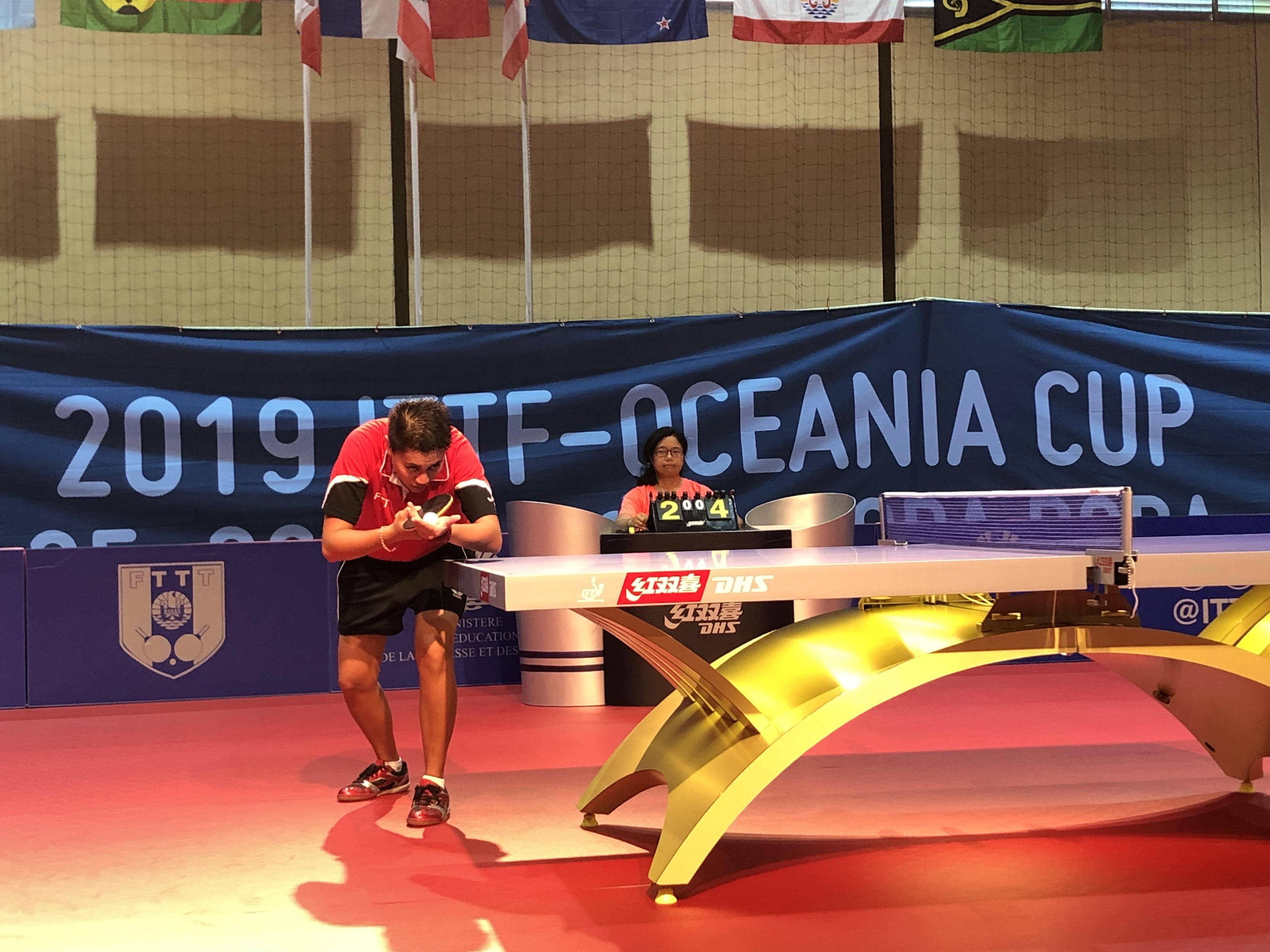 Melveen Richmond, médaillée d'or aux derniers Jeux du Pacifique, s'est inclinée pour son entrée en lice face à la pongiste Néo-Zélandais Jiayi Zhou.