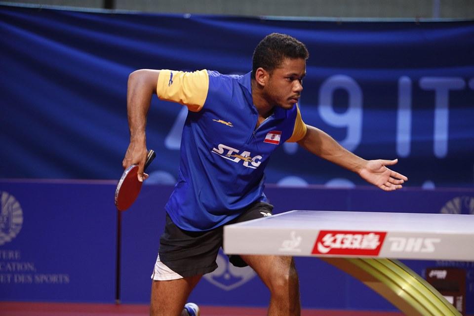 Océan Belrose est le dernier Tahitien encore en lice dans le tableau final de 'Oceania Cup. (©FTTT)
