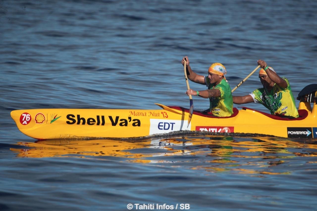 Tahiti Nui Va'a : Shell Va'a s'impose entre Tautira et Pirae