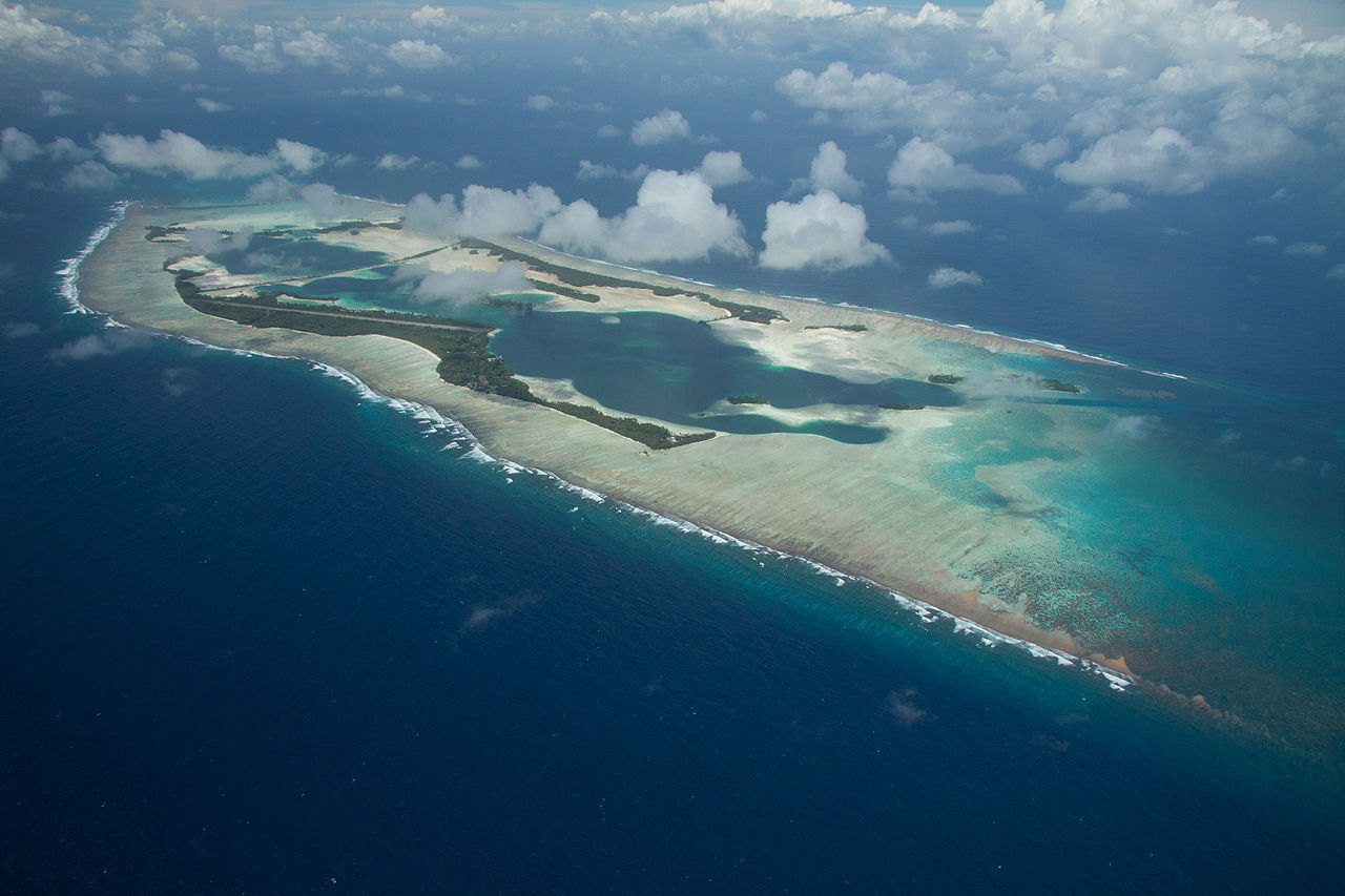 Une vue aérienne de l'atoll, qui bénéficie d'un statut très particulier au sein des Etats-Unis.