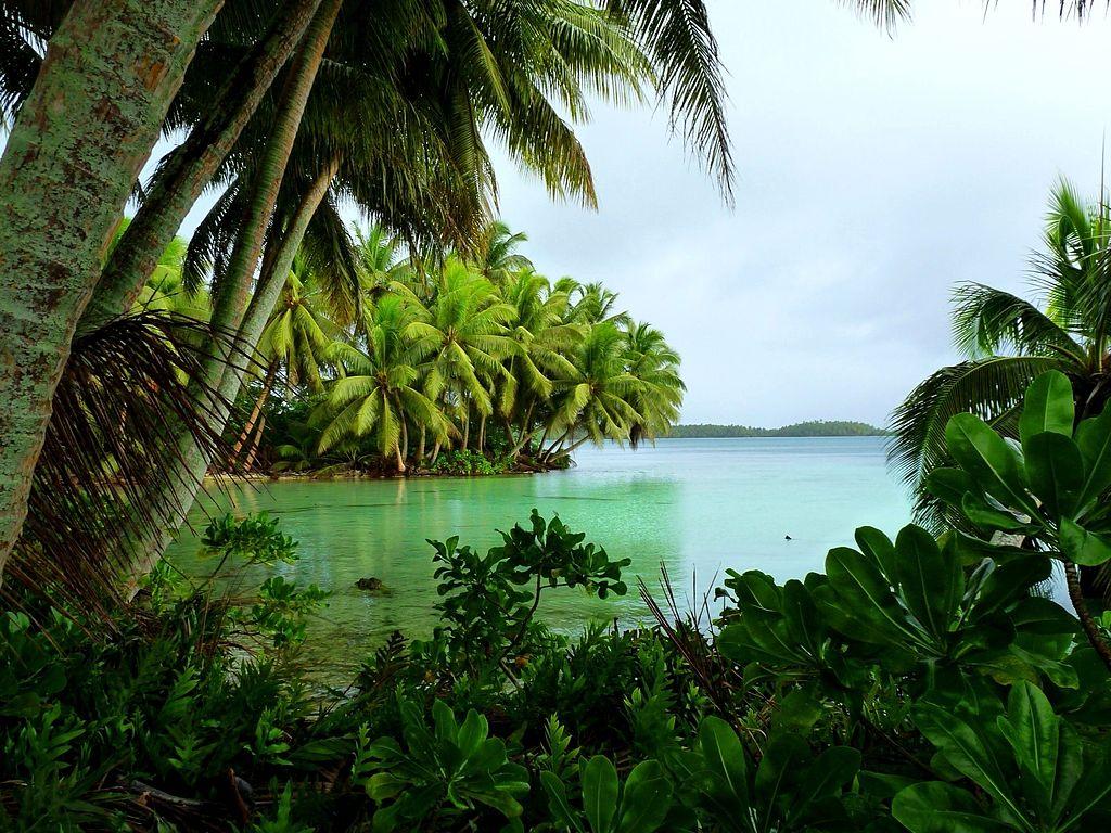 Strawn Island ; avouez que ce motu n'a rien à envier à ceux de nos atolls des Tuamotu.