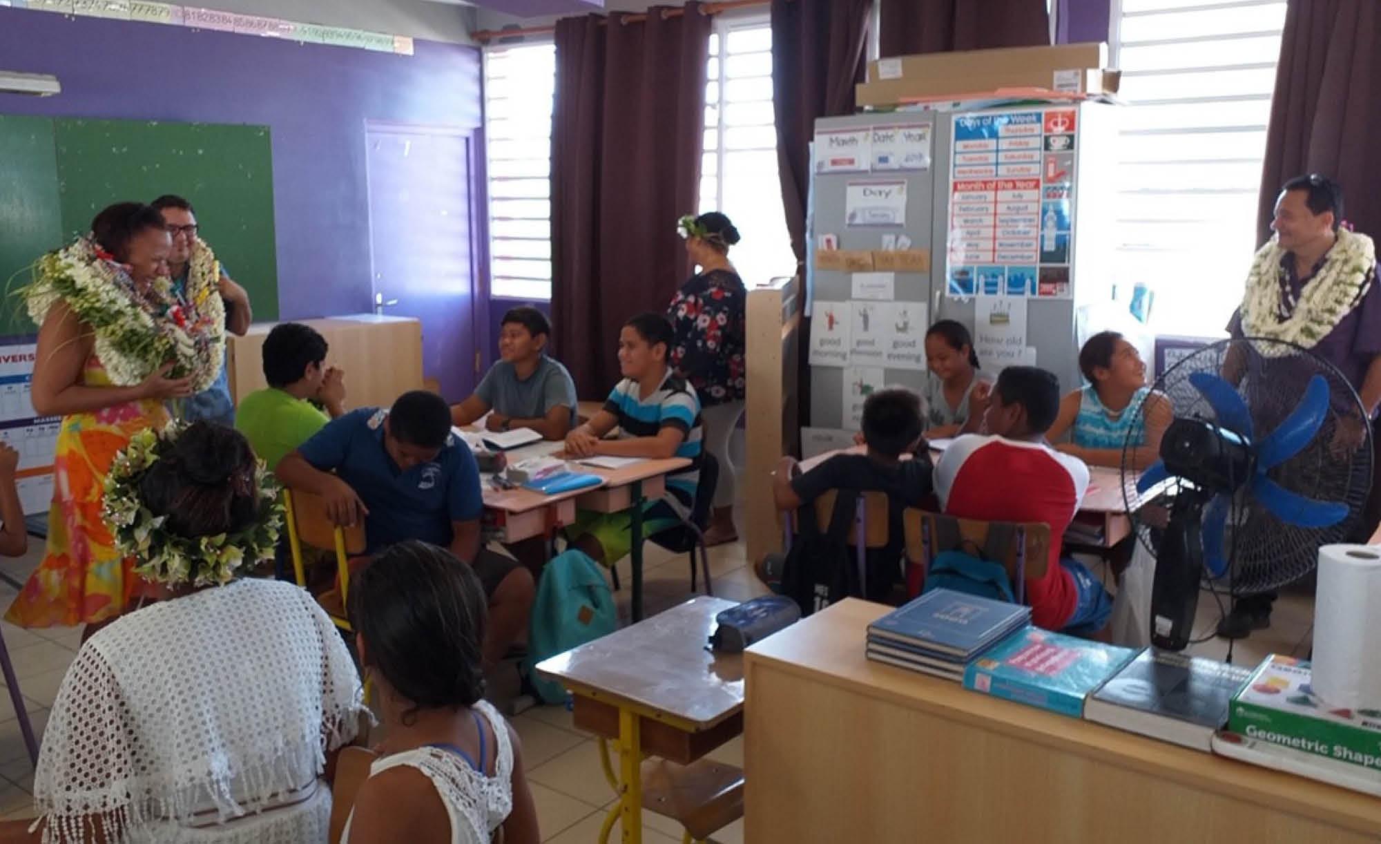 La 6e à l'école primaire de Arutua