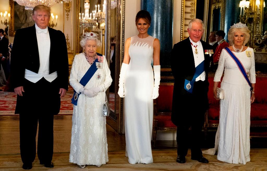 Les Trump à Buckingham Palace, et avec entrain sur Instagram
