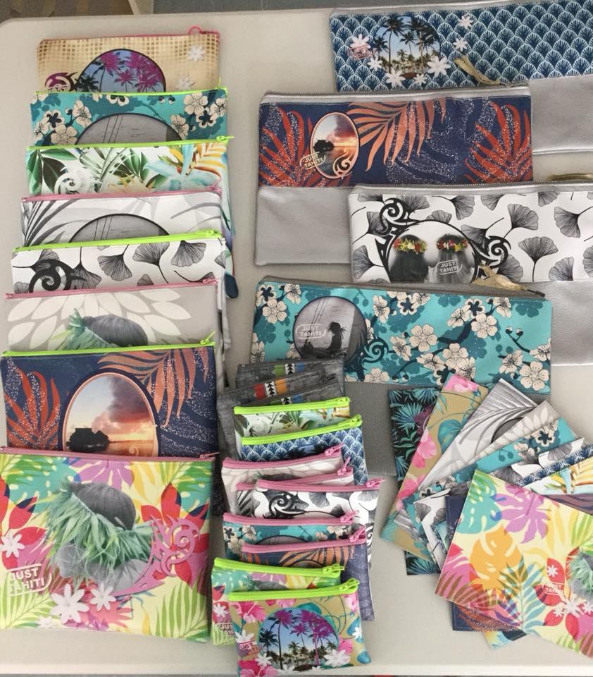 Tous les accessoires sont confectionnés à Tahiti.