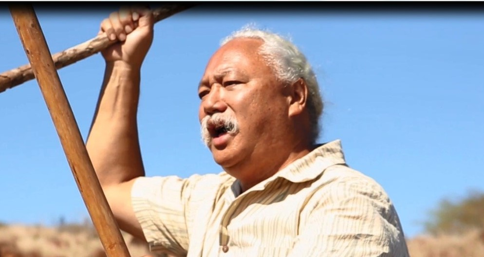 Solomon Kaho'ohalahala, conseiller culturel du parc marin Papahānaumokuākea (crédit : Pew)
