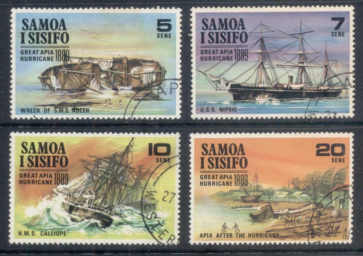 Les Postes samoanes ont rendu hommage au drame d'Apia en émettant quatre vignettes commémoratives.
