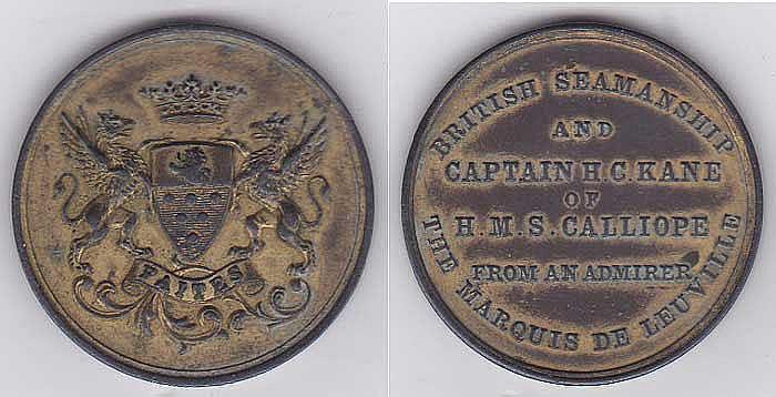 Une médaille rend hommage à H.C. Kane.