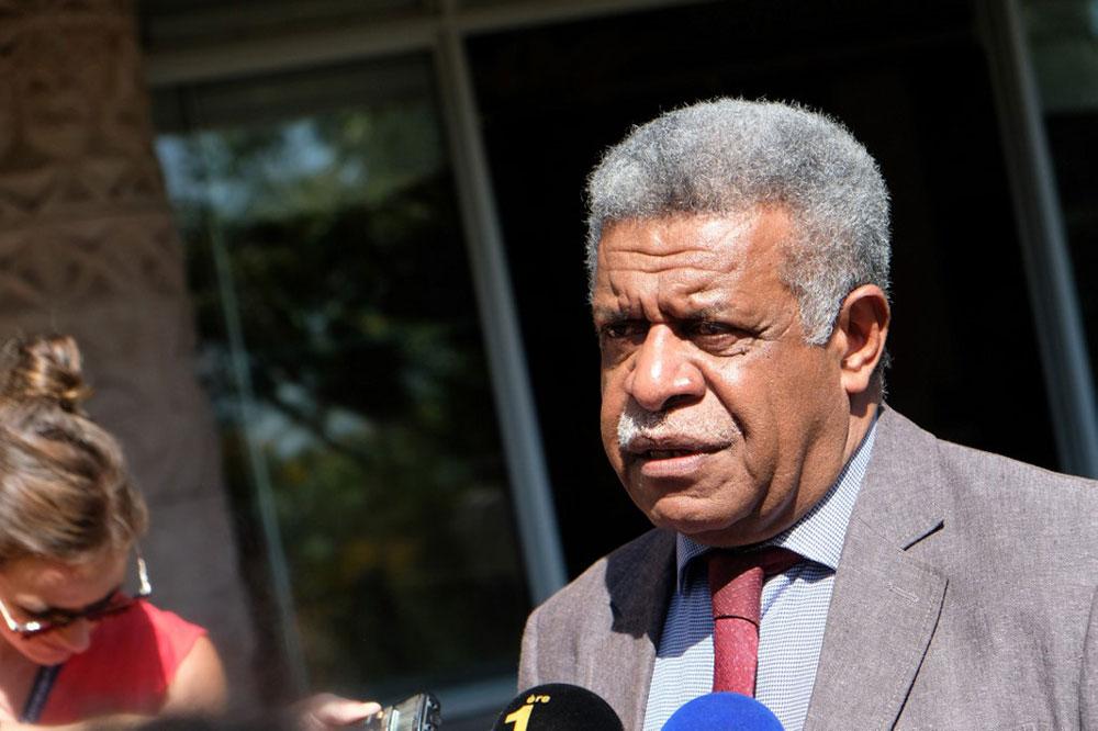 Louis Mapou, président du groupe Union nationale pour l'indépendance au Congrès.