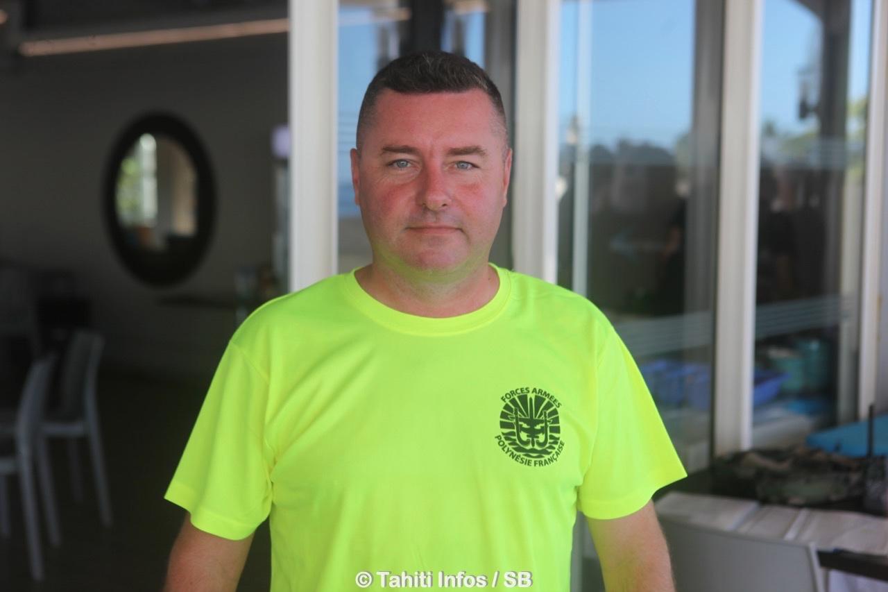 Le Commandant Antoine Fumery, officier des sports du ComSup
