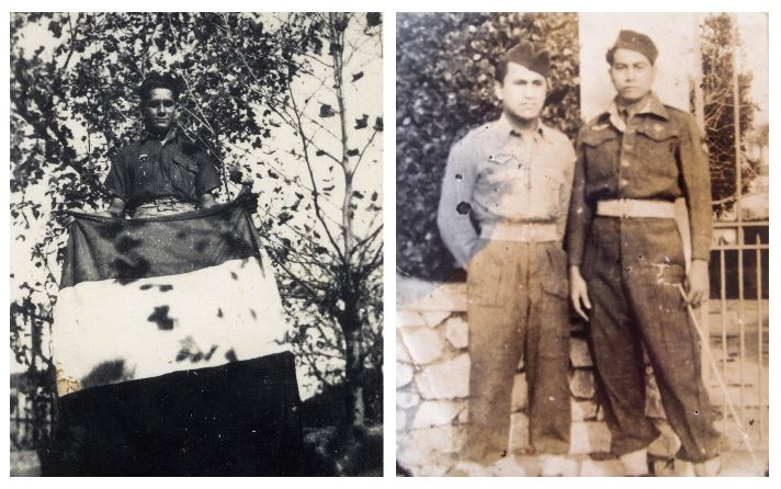 A gauche : Le SAS tahitien Albert Colombani (Fonds Colombani). A droite : Orairai Mahahe et Manarii Fateata (Fonds Shigetomi. Courtesy Orairai).