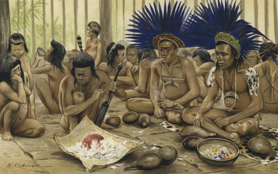Une fête de la mort chez les Indiens Bororo, telle que décrite par von den Steinen, premier homme blanc à approcher ces Indiens amazoniens.