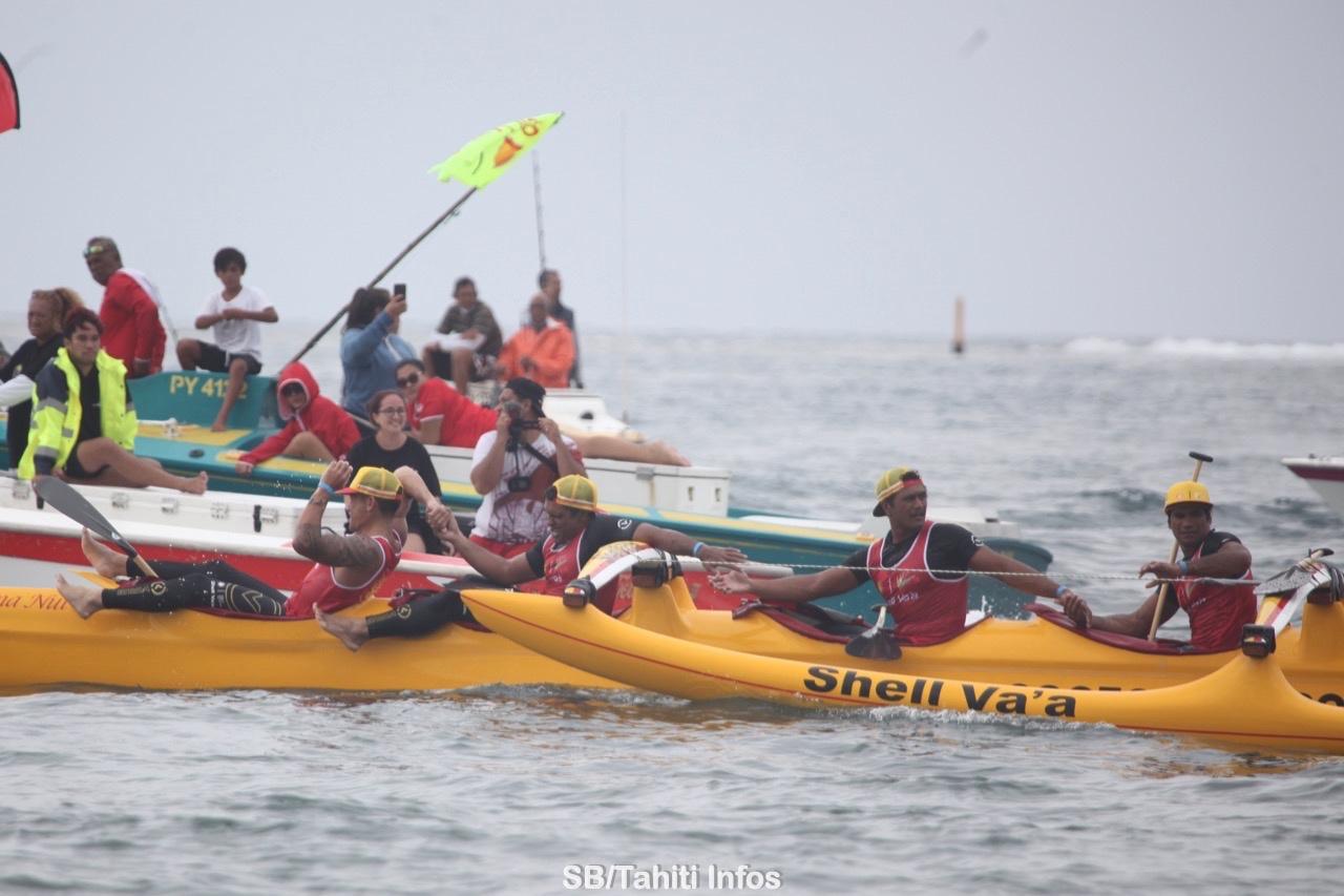 Va'a V6 – Faati Moorea : La victoire pour Shell Va'a en 6H46'